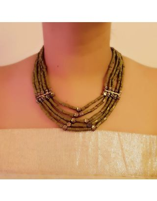 Green 5 Layered Necklace
