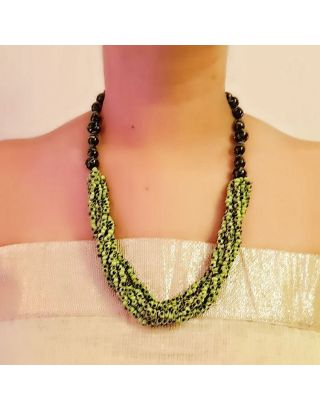 Green Multi-Layered Necklace