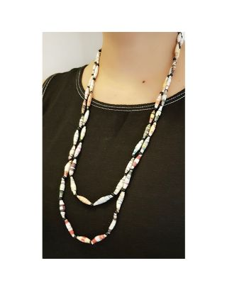 Two Layered Paper Bead Necklace