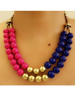 Multicolour Two Layer Necklace