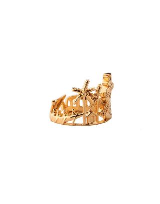 Golden cityscape ring