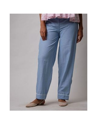 Sky Blue Cotton Pants