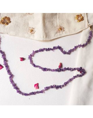 Lavender stones mask chain