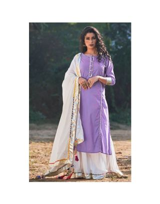 Lavender Sharara set