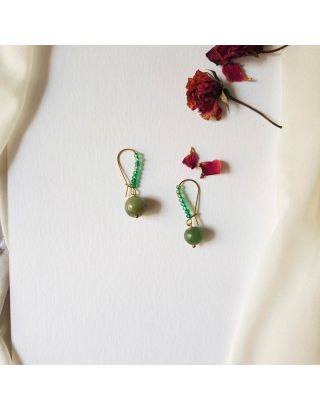 Liliput Green Earrings