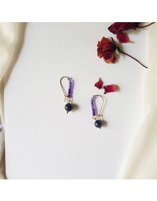 Liliput Purple Earrings