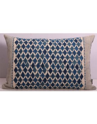 Blue Lozenge and Mira Cushion Cover