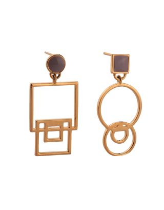 Golden Mis-Matched Earrings