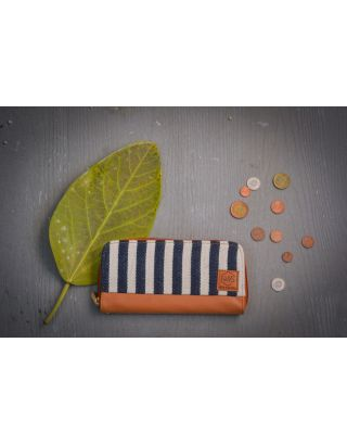 Midnight Blue Striped Clutch Wallet