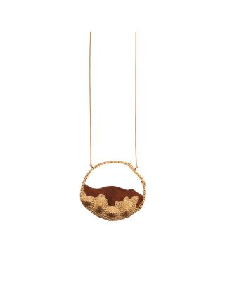 Wooden Ripple Necklace