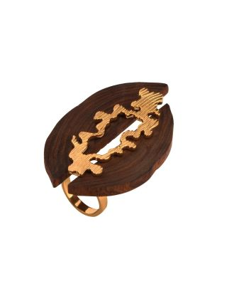Wooden Contrive Ring