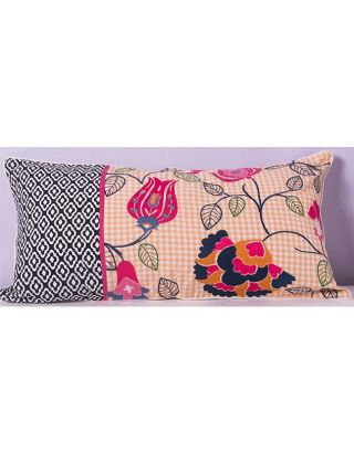 Hand Woven Floral Cushion Cover