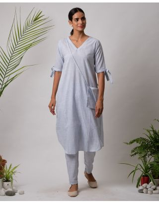 Sky Blue Plain Kurta