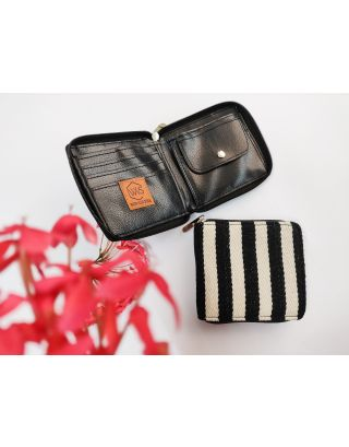 Monochrome Stripes Mini Wallet