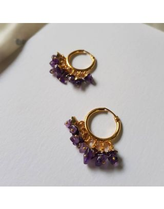 Morning Amethyst Baali Earrings