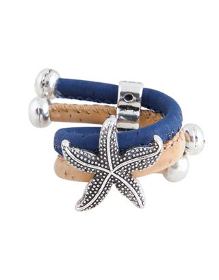 Beige & Dark Blue Star Ring