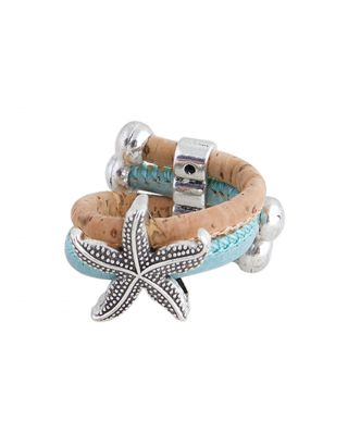 Beige & Blue Sea Star Ring