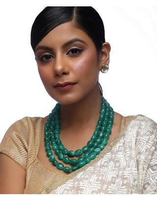 Emerald Neckpiece with Studs