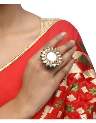 Glass Kundan Ring