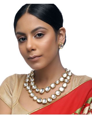 Double Layered Neckpiece with Studs