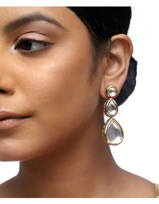 Teardrop Kundan Earrings