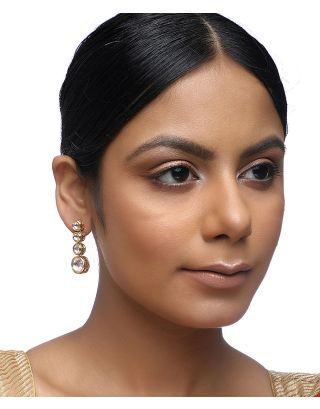 Round Kundan Earrings