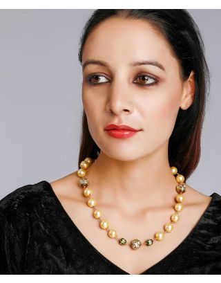 Golden and Ivory Kundan Necklace