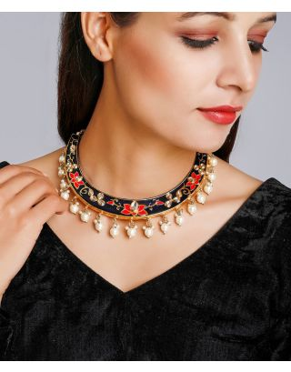 Multi Colored Basra Pearl Necklace