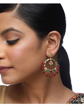 Multi Color Jadau Earrings