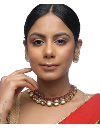 Kundan Brown Thread Choker Set