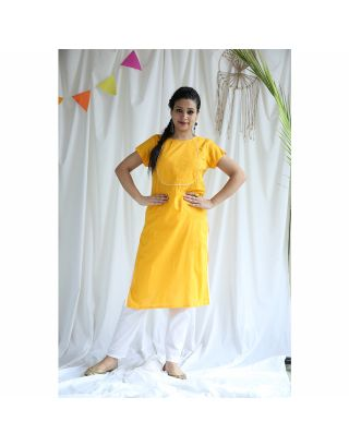 Yellow Kurta Pant Set