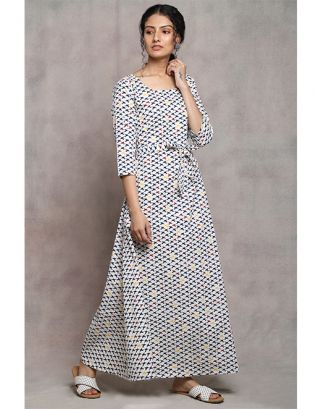 White Bird Printed Maxi Dress
