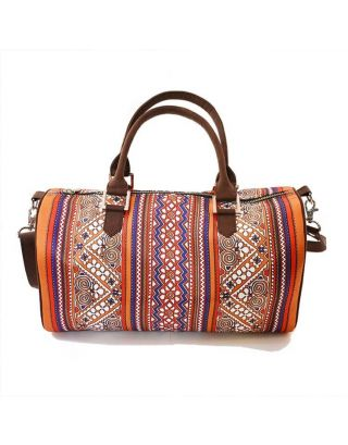 Border Print Duffle Bag
