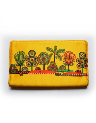 Yellow Tree Print Wallet