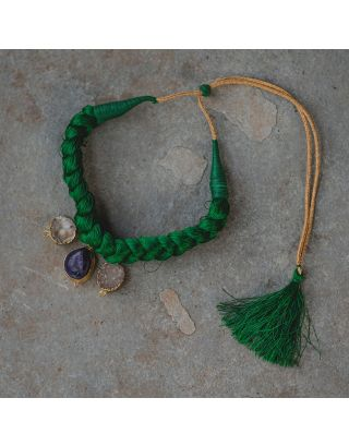 Unique Green Stone Necklace