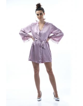 Grey Rose cordon Robe