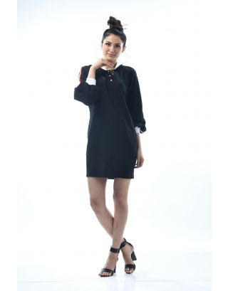 Black Oversized Boyfriend Dress