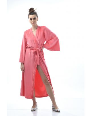 Peach Lounging Velour Robe