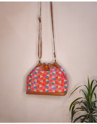 Pascal's Periwinkle Triangle Bucket Bag