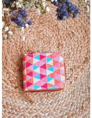 Pascals Blush Triangle Mini Wallet