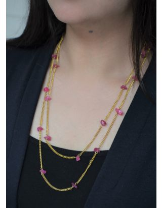 Pink Gravel Necklace