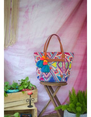 Prismatic Triangle Weekender Tote