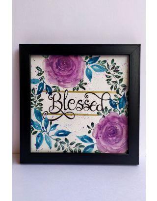 BLESSED  Watercolour painting