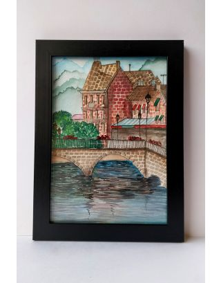 Venetian canal Watercolour painting with a beautiful view
