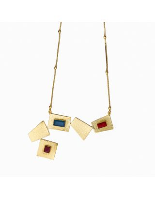 Red and Blue Gold Neckpiece