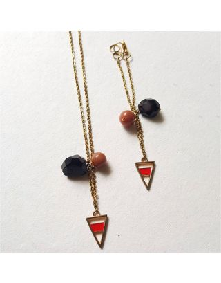 Red Stone Triangle Neckpiece