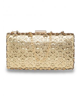 Golden Cutwork Clutch