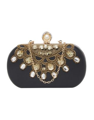 Black Stone Work Clutch