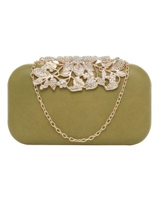 Olive Green Clutch