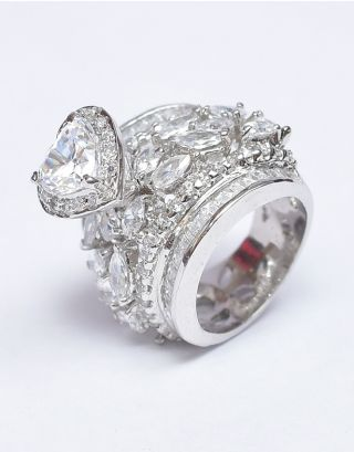 Heart Diamond Shaped Ring